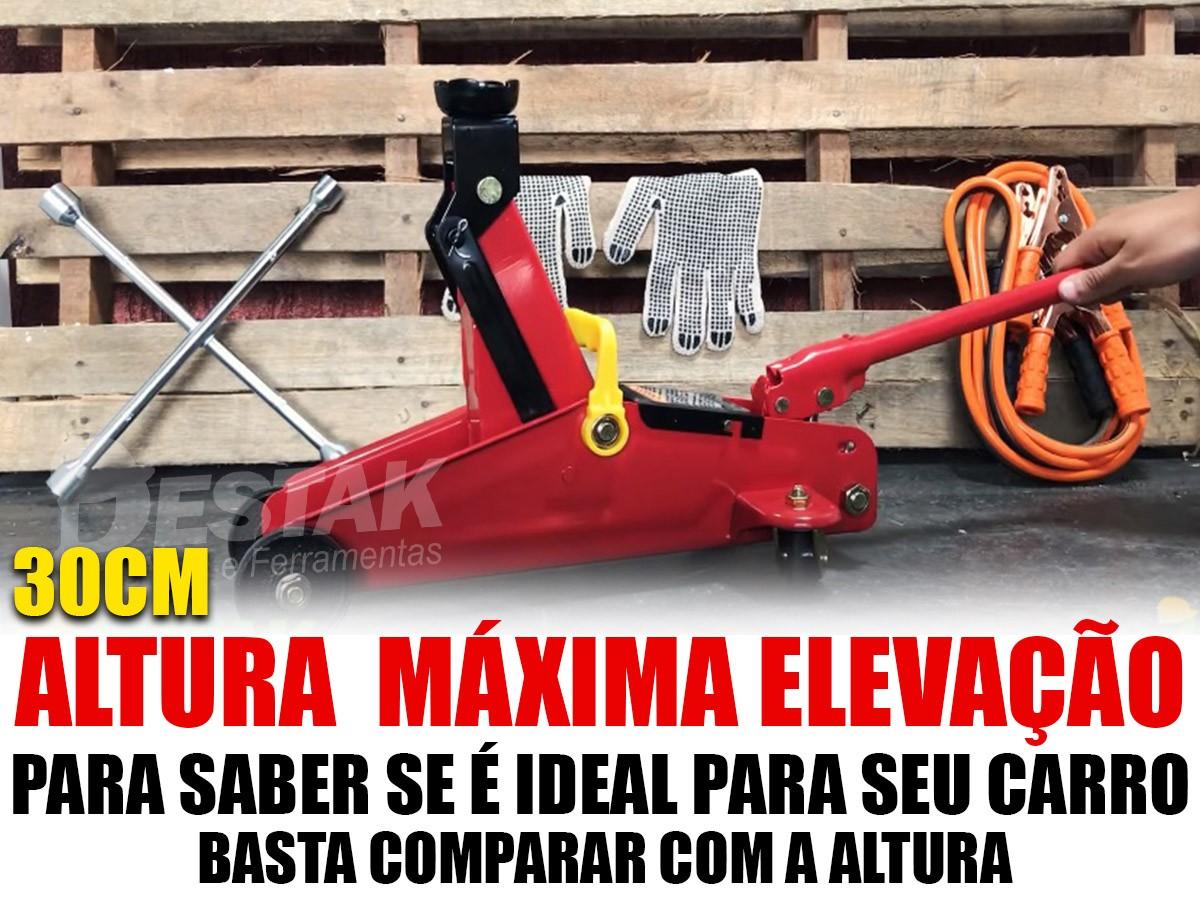 Kit Estepe Macaco Jacaré 2t Maleta Sparta + Bomba Ar Starfer