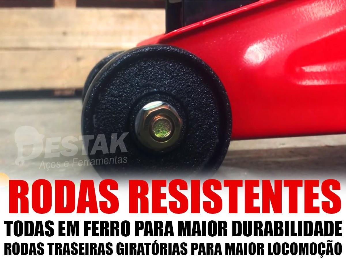 Kit Estepe Macaco Jacaré Hidráulico 2 Toneladas C/maleta
