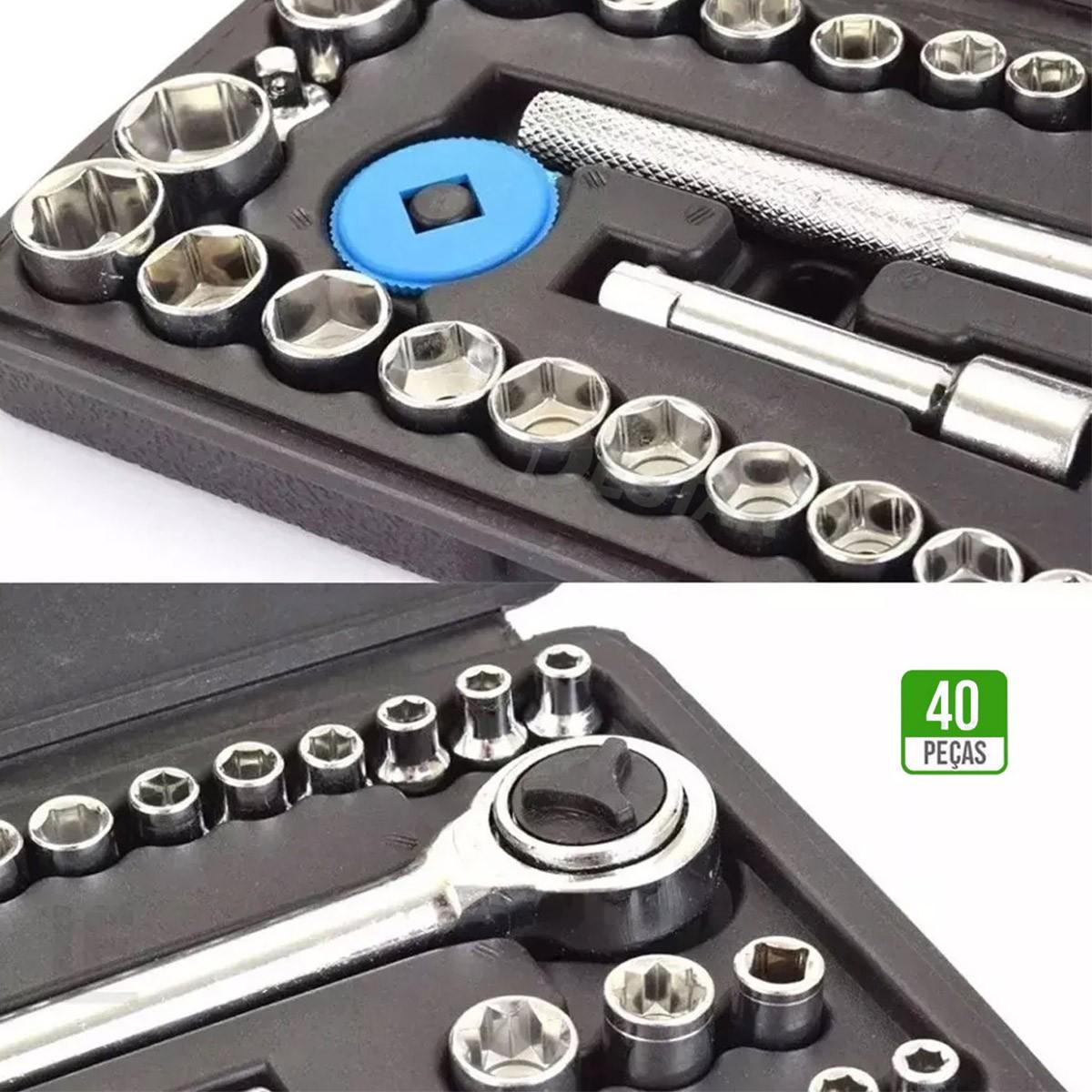 Kit Jogo Chave Catraca Soquete C/ Chave Biela 8pçs 8 - 15mm