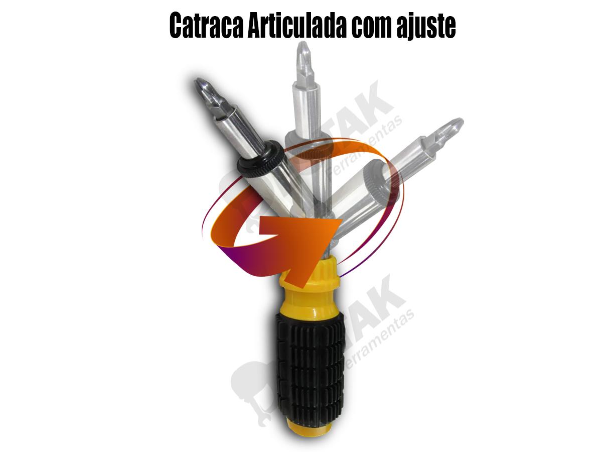 Kit Jogo Ferramentas 40 Peças Chave Soquete Titanium