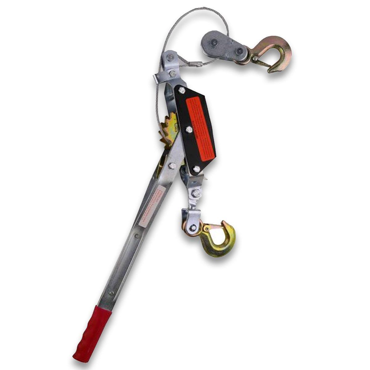 Kit Mini Guincho 4t P/puxar Supender + Cinta Catraca Manual