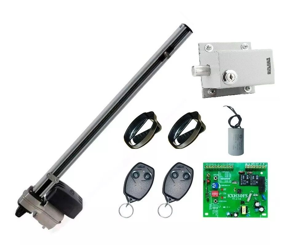 Kit Motor Basculante Rossi Nano Turbo 1/4 Braço 1,5m + Trava Elétrica Bulher 127v