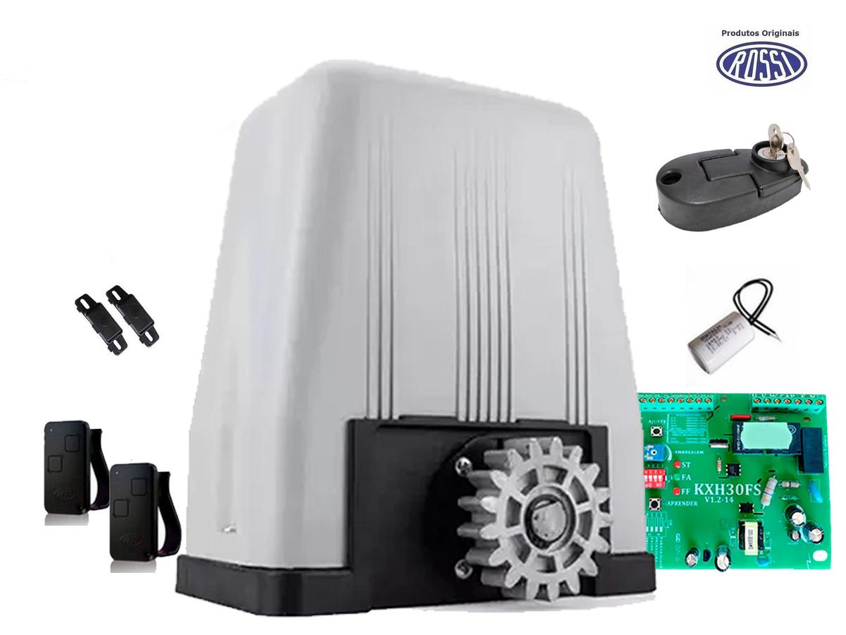 Kit Motor Deslizante Rossi Dz4 Sk Para Portão Eletrônico Sem Cremalheira