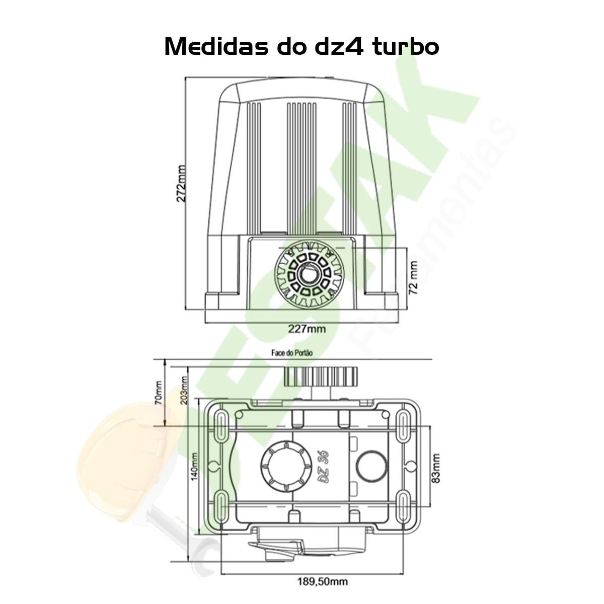 Kit Motor Dz Rossi Dz4 1/3 Sk Turbo 3m Cremalhe 4 Controles 127v