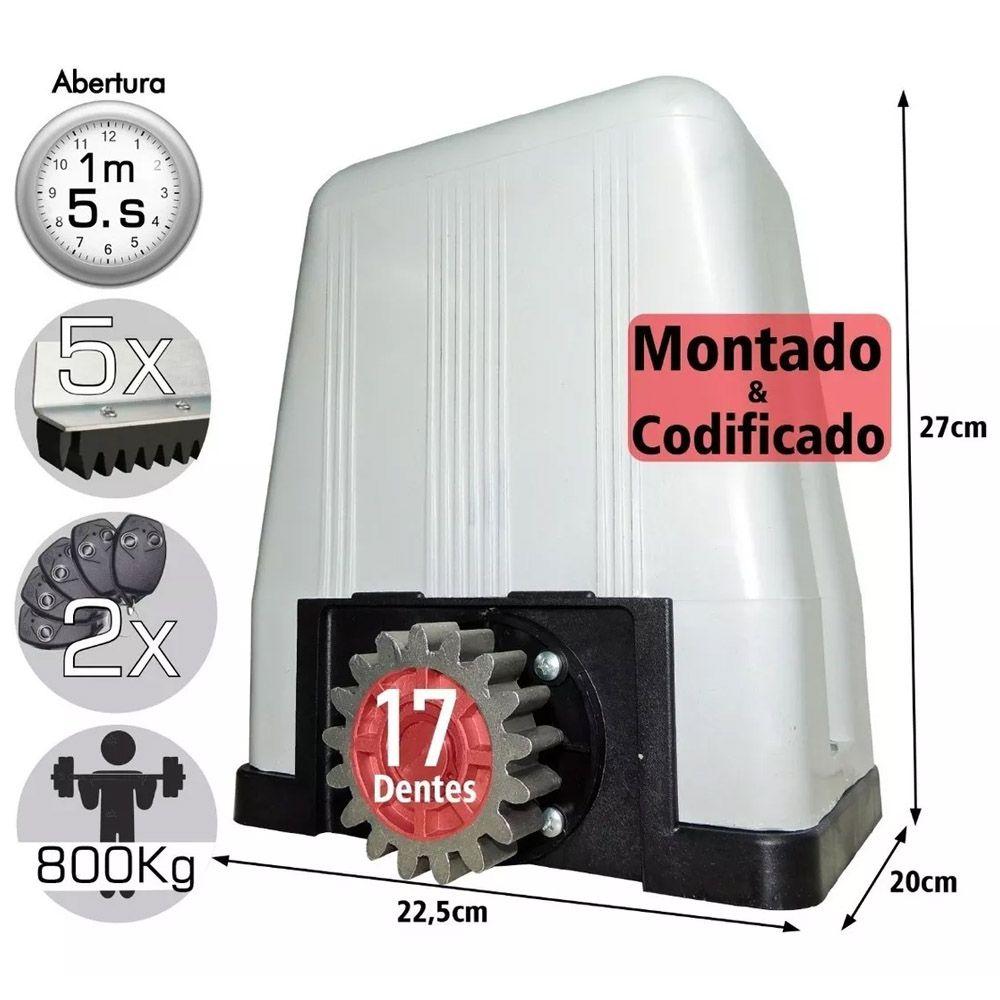 Kit Motor Dz Rossi Dz4 1/3 Sk Turbo 4m Cremalhe 2 Controles