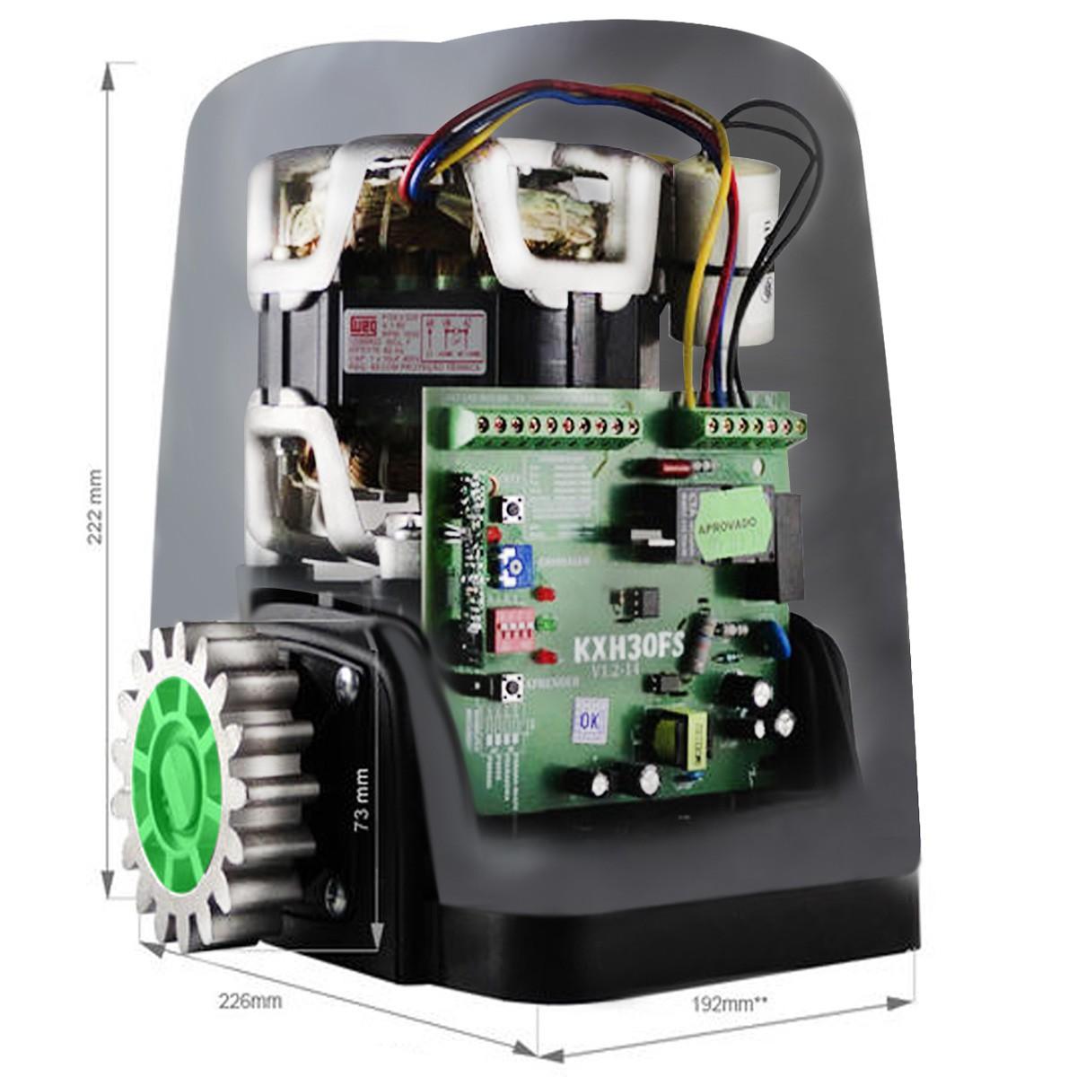 Kit Motor Rossi Dz Nano Turbo 4m Crem 3 Control 110v 600kg