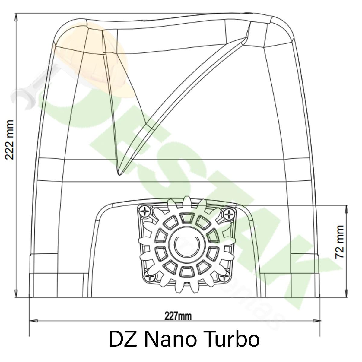 Kit Motor Rossi Dz Nano Turbo 5m Crem 2 Control 220v 600kg