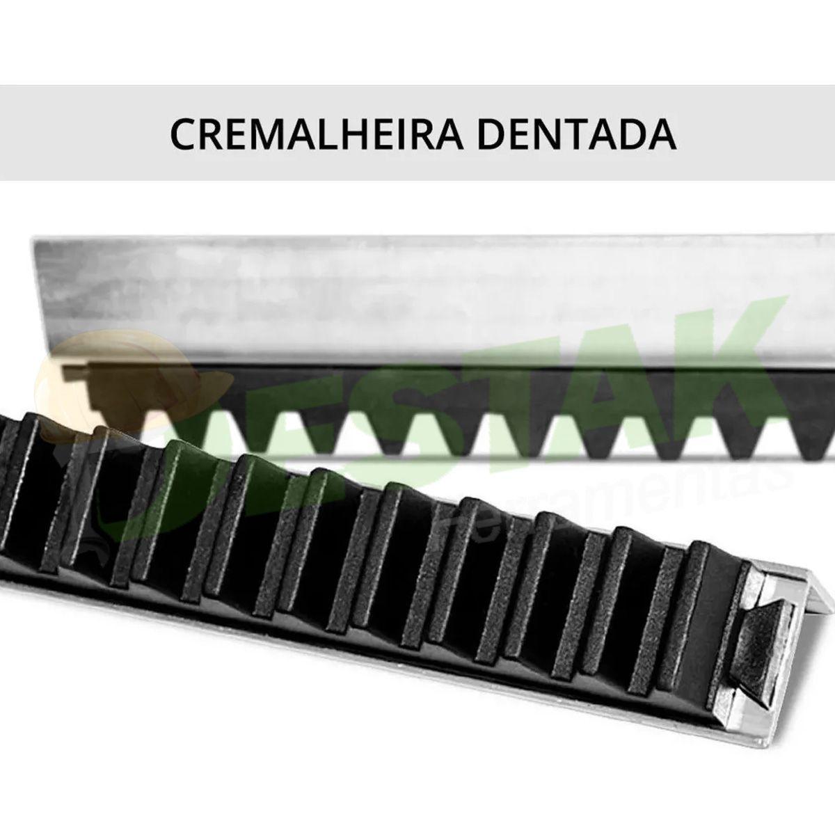 Kit Motor Portão Deslizante Rossi 1/4 5m Crema 2 Controles