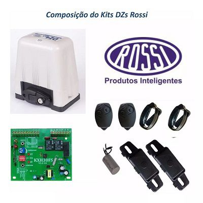 Kit Motor Portão Deslizante Rossi Dz4 1/3 Sk Sem Cremalheira 127v