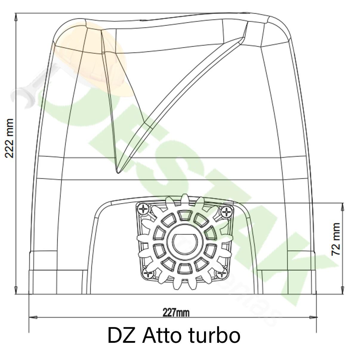 Kit Motor Turbo 350kg Portão Desliza Atto 1/5hp 4 Crem 2cont 220v