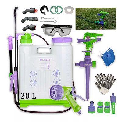 Kit Pulverizador Costal 20 Litros Reforçado C/ Irrigador Jardim + Acessórios Conectores Esguicho + Super Brindes Gold