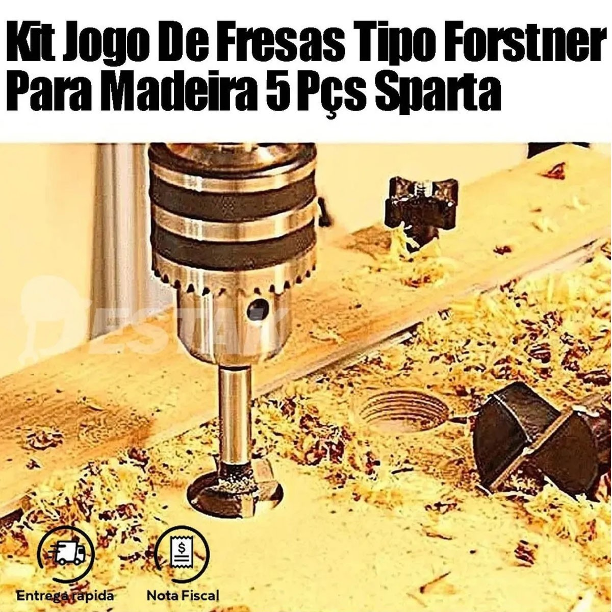 kit Retífica Reta Pneumática 1/4 + 74 Acessórios Micro Retífica