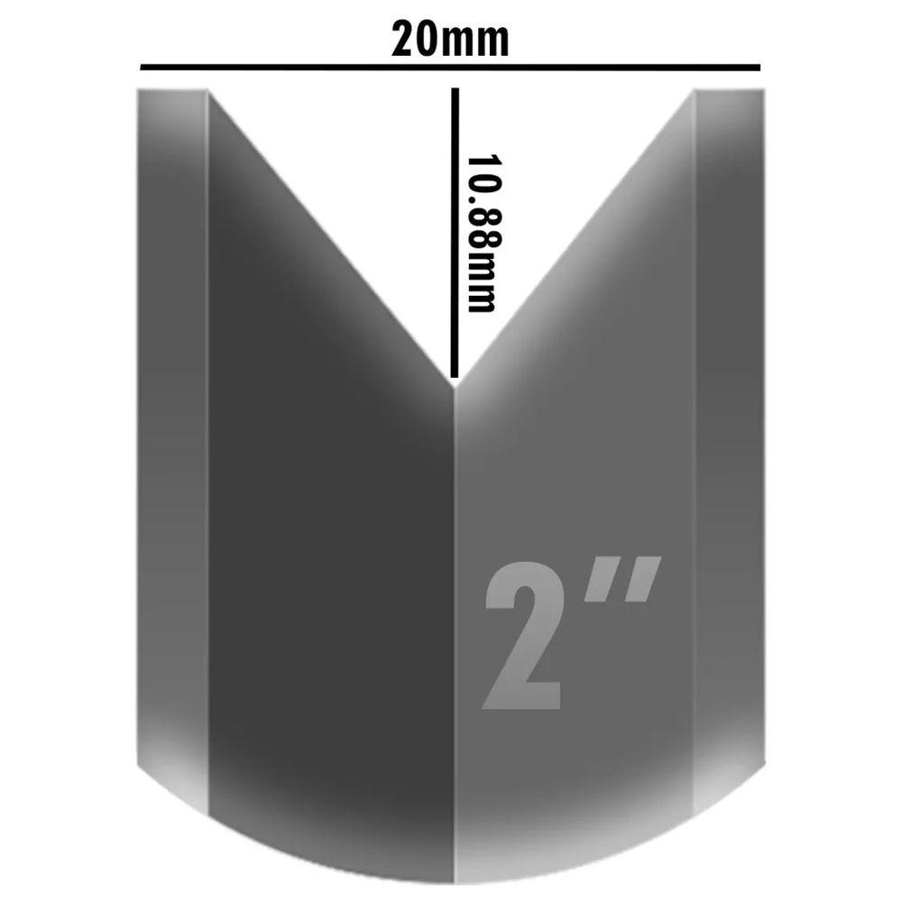 Kit Roldana Para Portão 4pçs Aço 2 Pol Canaleta V C/caixa