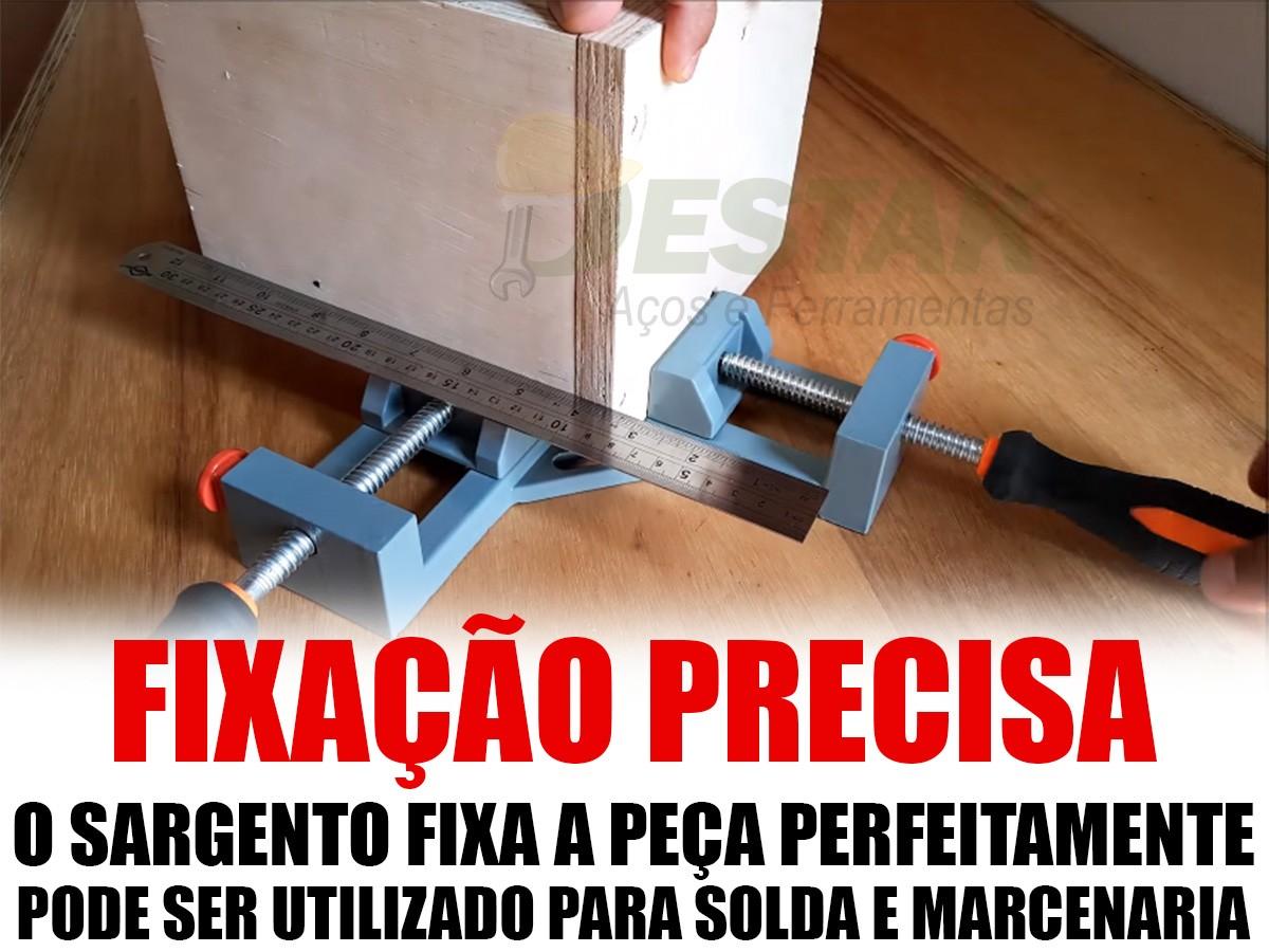 Kit Sargento Esquadro Marceneiro E P/ Solda 65mm Completo