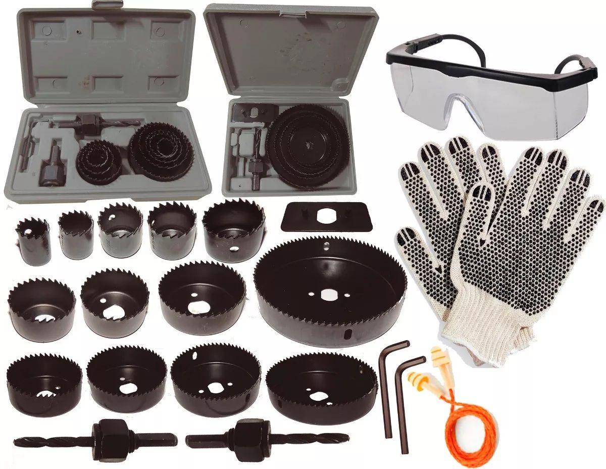 Kit Serra Copo 19pç 64 A 127mm Completo+ Super Brindes