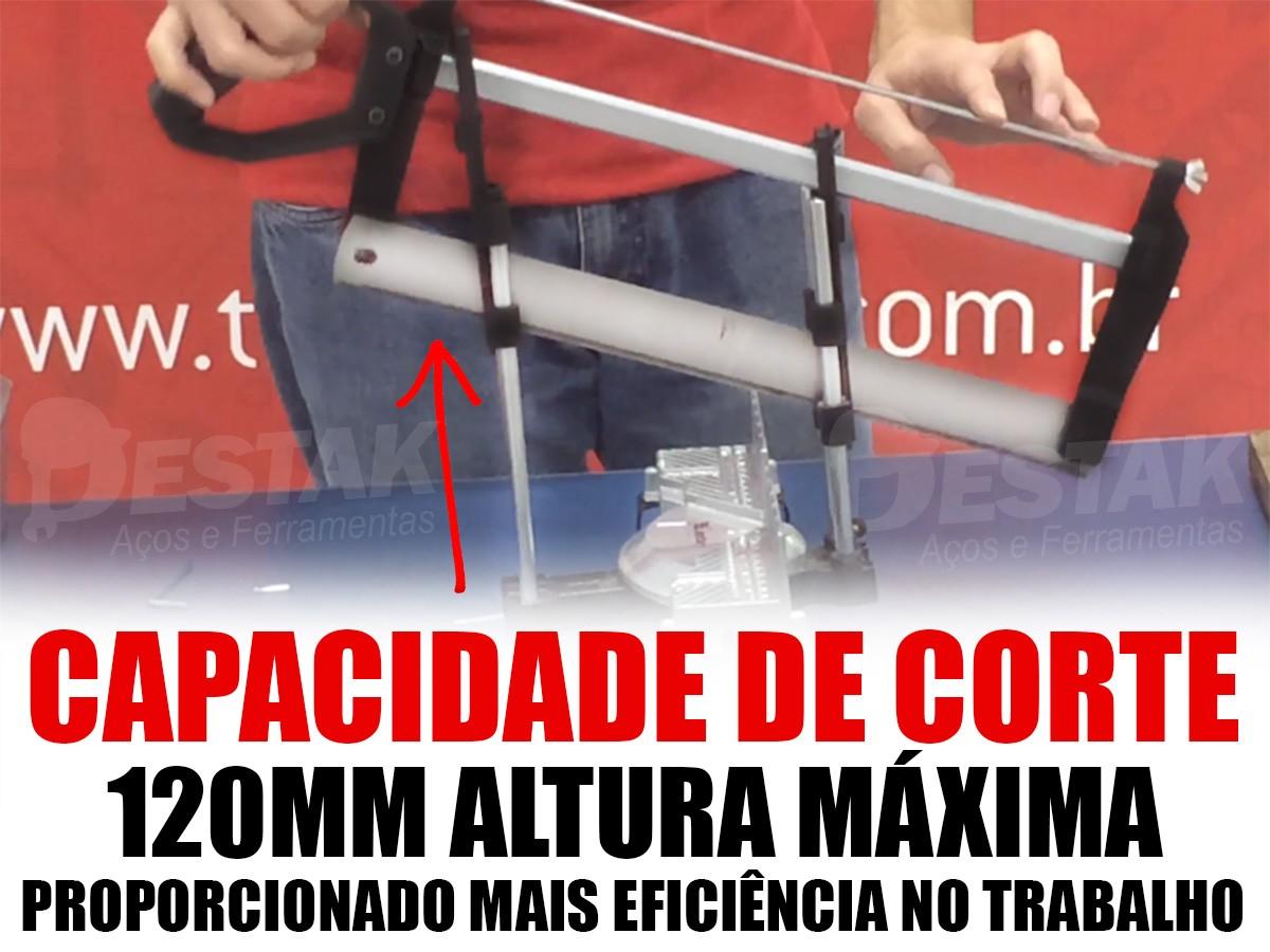 Kit Serra Meia Esquadria Manual Precisão 420mm c/ Amortecedor