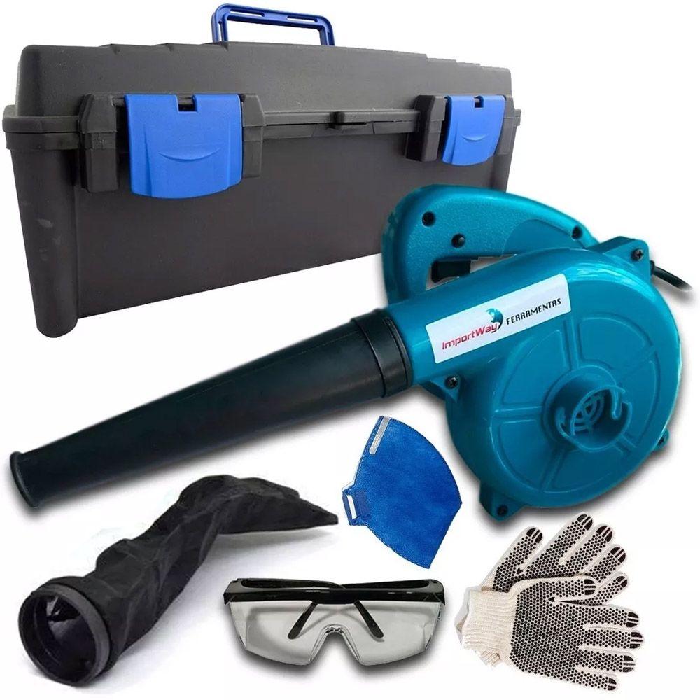 kit Soprador Aspirador Ventilador Máquinas Multifuncional 600w