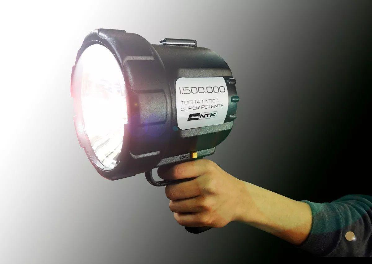 Lanterna 1500 Velas Holofote Tocha Cilibrim Foco De Mão 12v