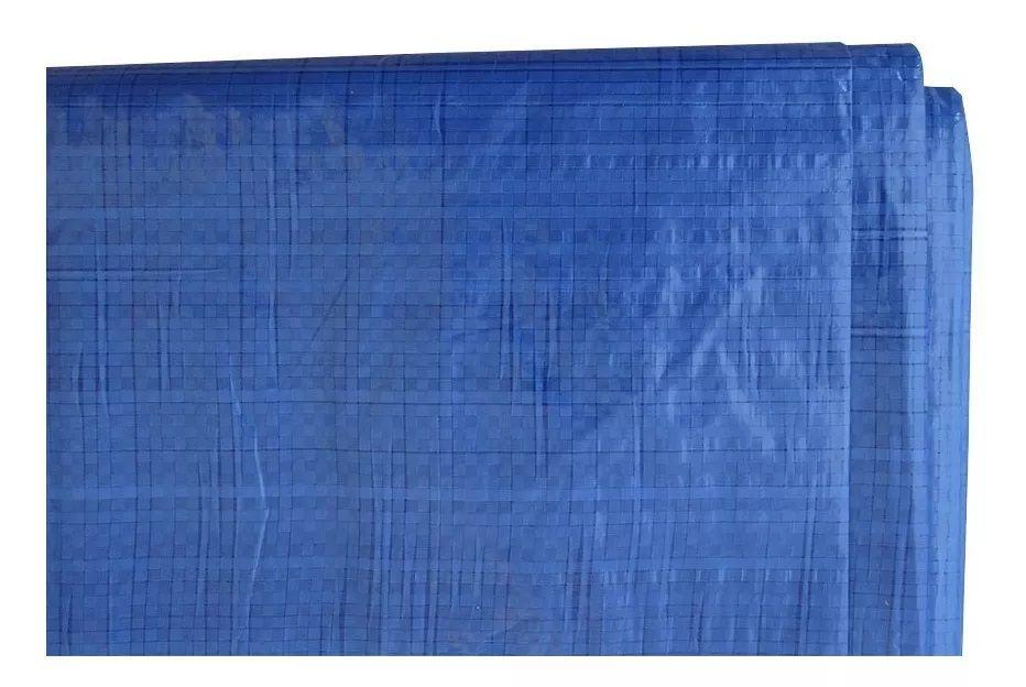 Lona Pesada 7x6 Azul Starfer reforçado p/ forrar