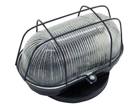Luminária Tartaruga Preta C/Grade De Ferro P/1 Lâmpada
