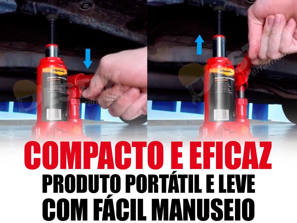Macaco Garrafa 2 Toneladas + Funil + Kit P/limpar Para Brisa