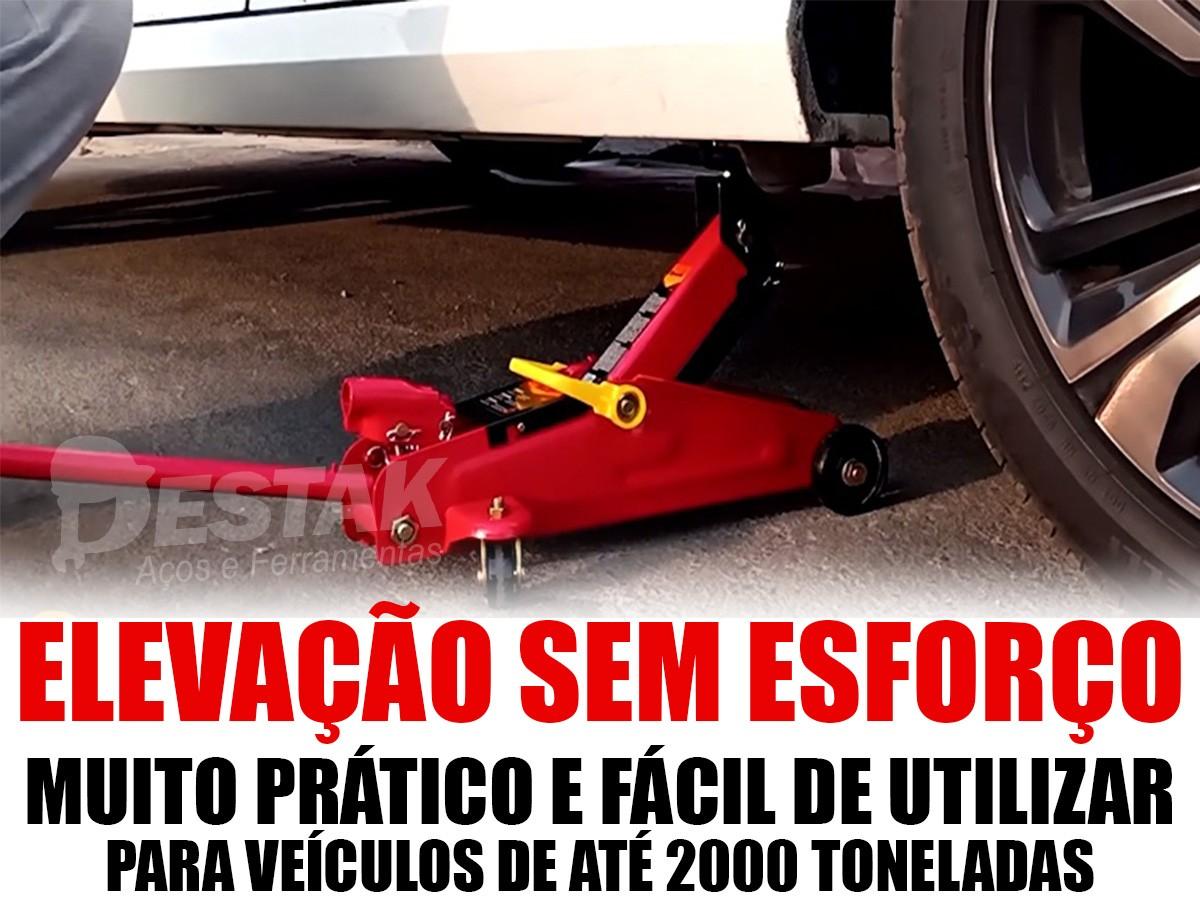 Macaco Hidráulico Jacaré 2 Toneladas Automotivo Carro Estepe