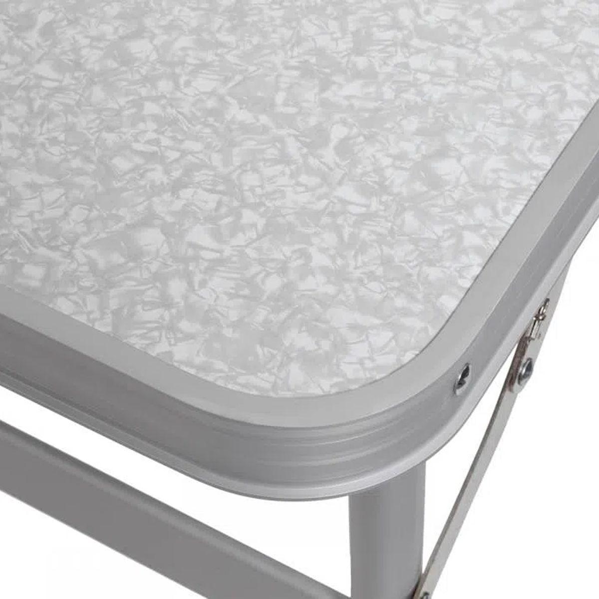Mesa Dobrável de Alumínio Tampo MDF 90x60x30/70cm