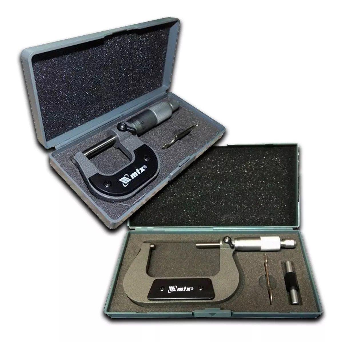 Micrometro Externo Analógico 25-50mm / 75-100 mm C/estojo