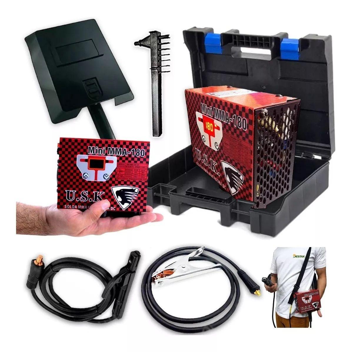 Mini Inversora Solda 180 Eletrodo Portatil + Maleta P/ Papai