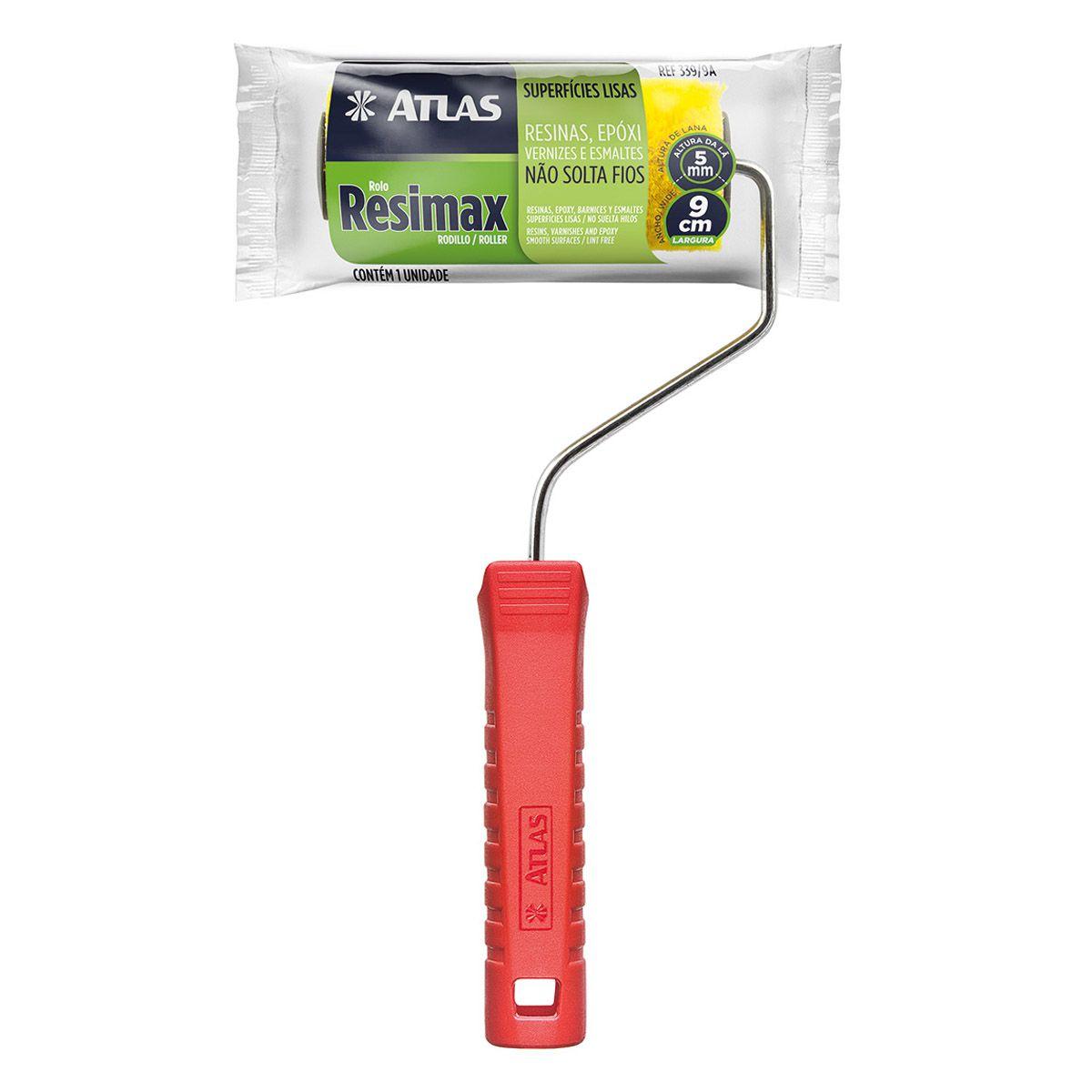 Mini Rolo Resimax 9,0cm Atlas 339/9a C/cabo