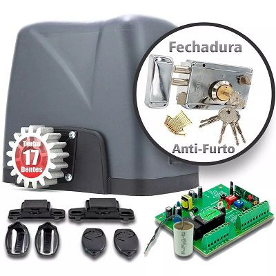 Motor Portão Deslizante 1/4 Dz Nano + Fechadura Anti-furto 110v