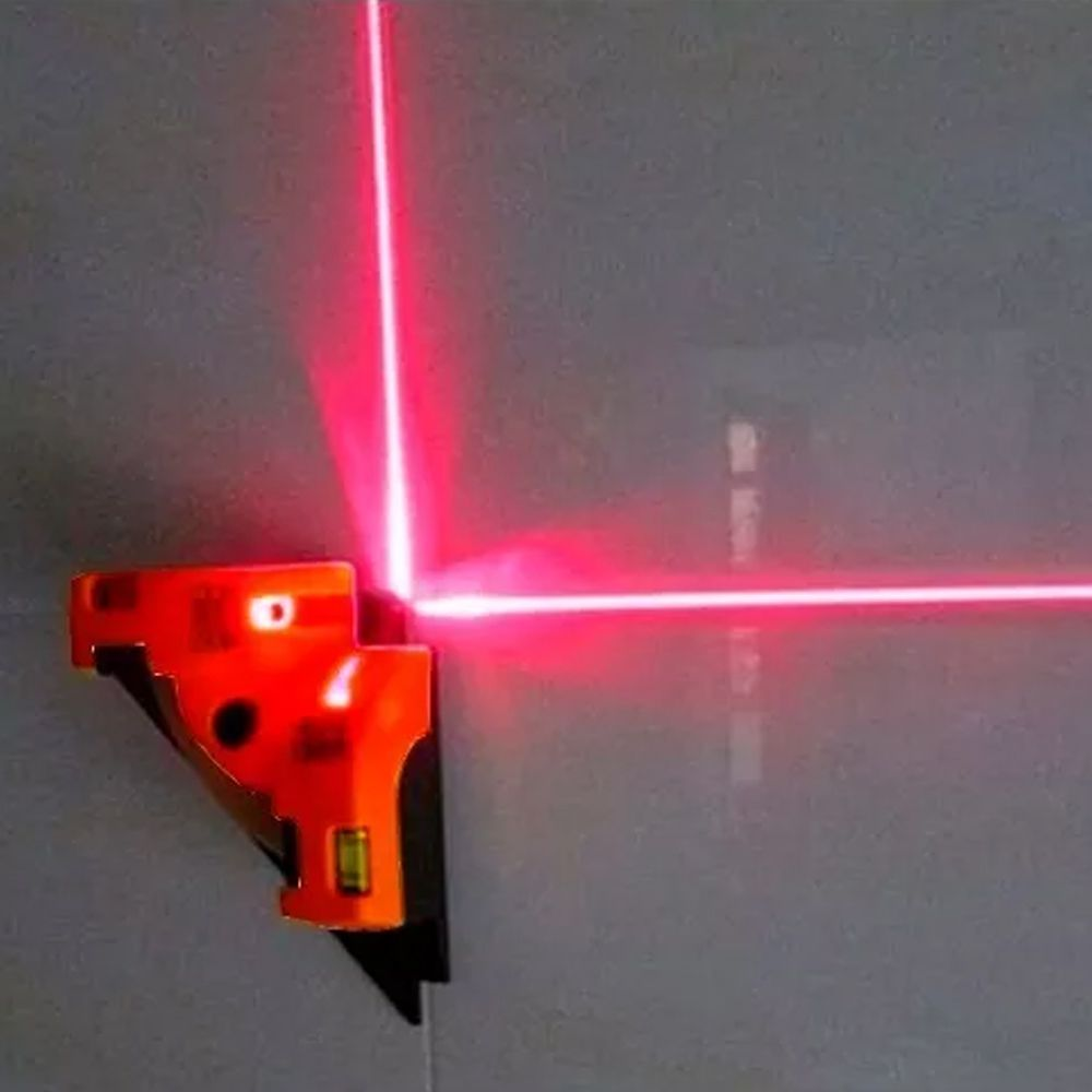 Nivel A Base Laser Esquadro Horizontal Vertical 90° C/prumo