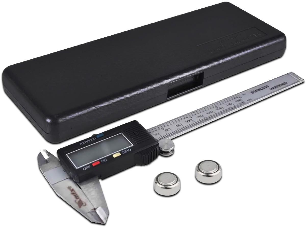 Paquímetro Digital 150mm Alta Precisão C/2 Baterias Mtx