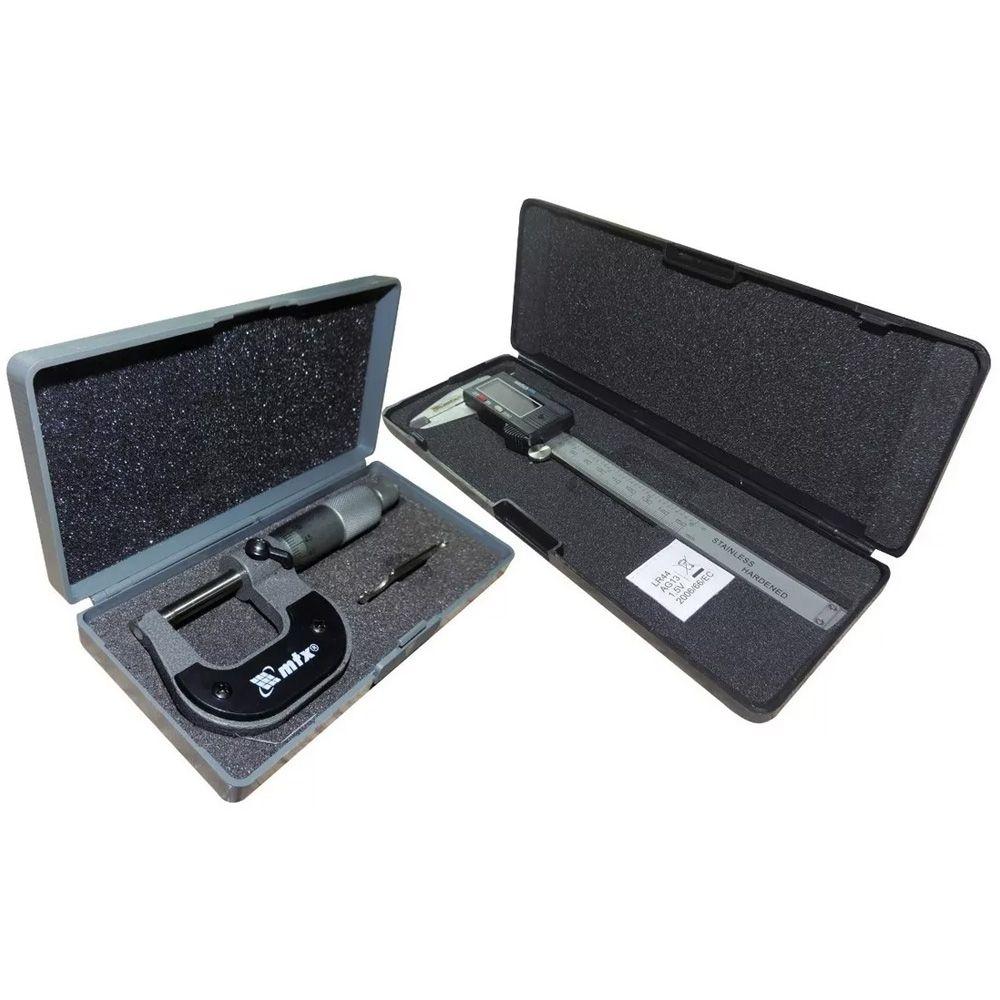 Paquímetro Digital 150mm Inox + Micrometro 0-25