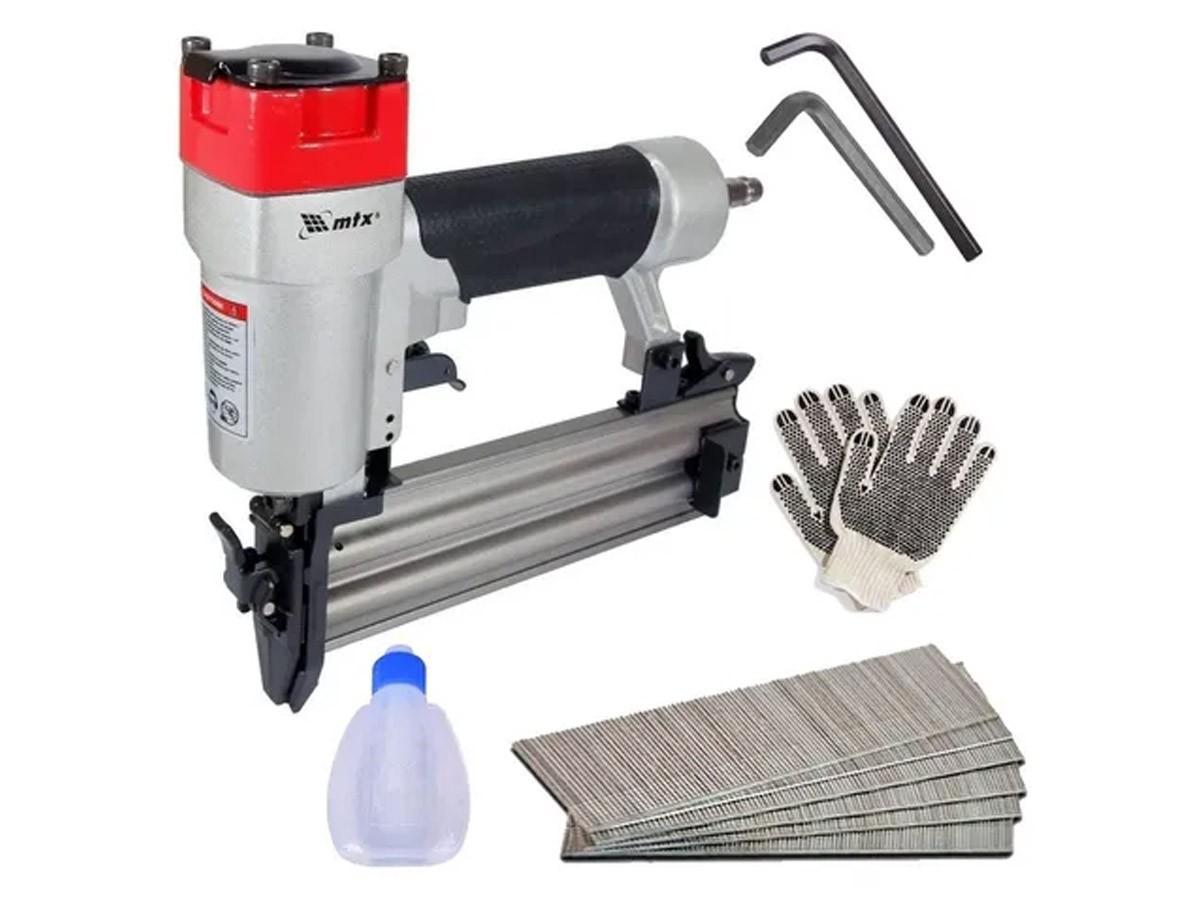 Pinador Pneumático Para Pinos De 10 A 50mm Mtx + 1000 Pinos