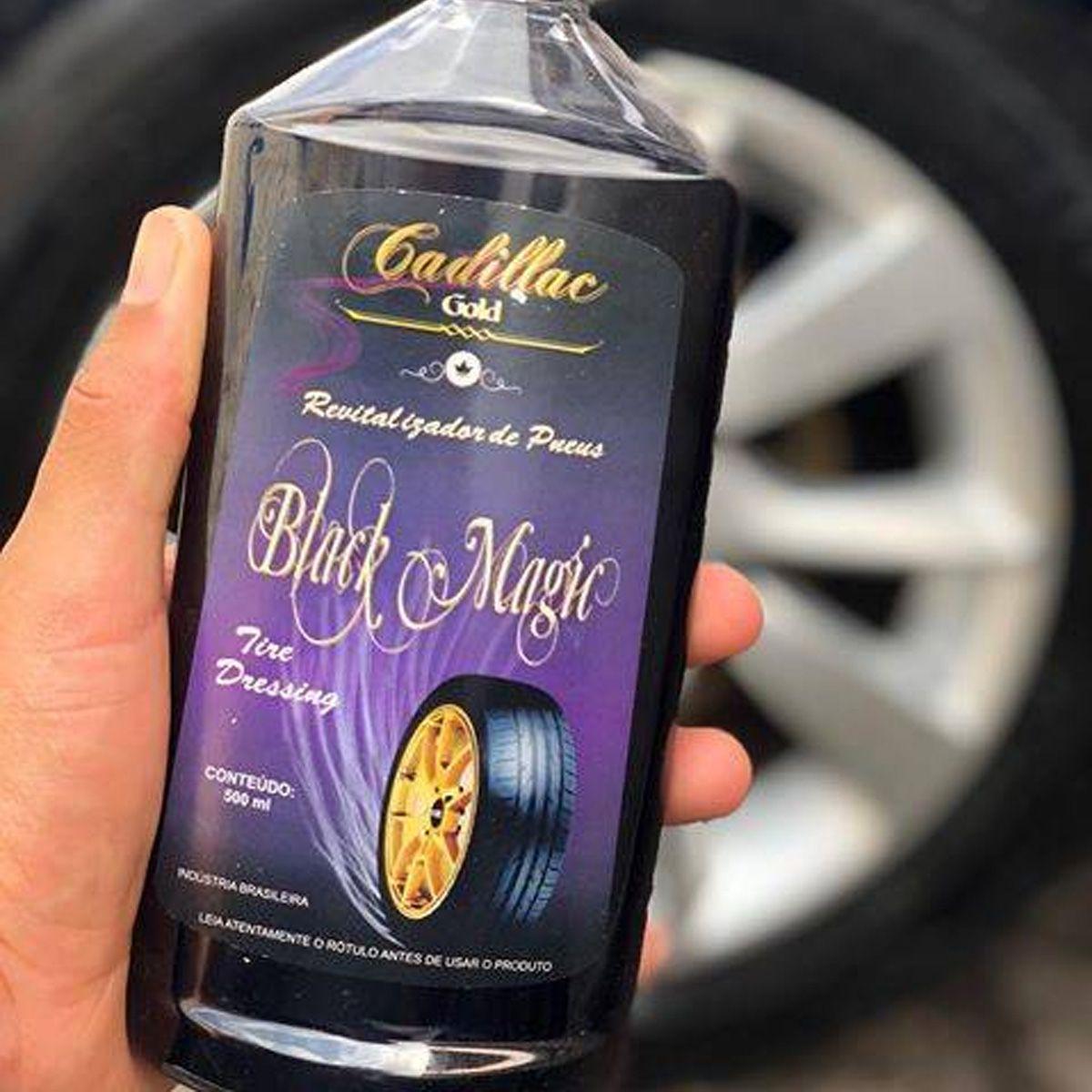 Pretinho Pneu Revitalizador Black Magic Cadillac 500ml