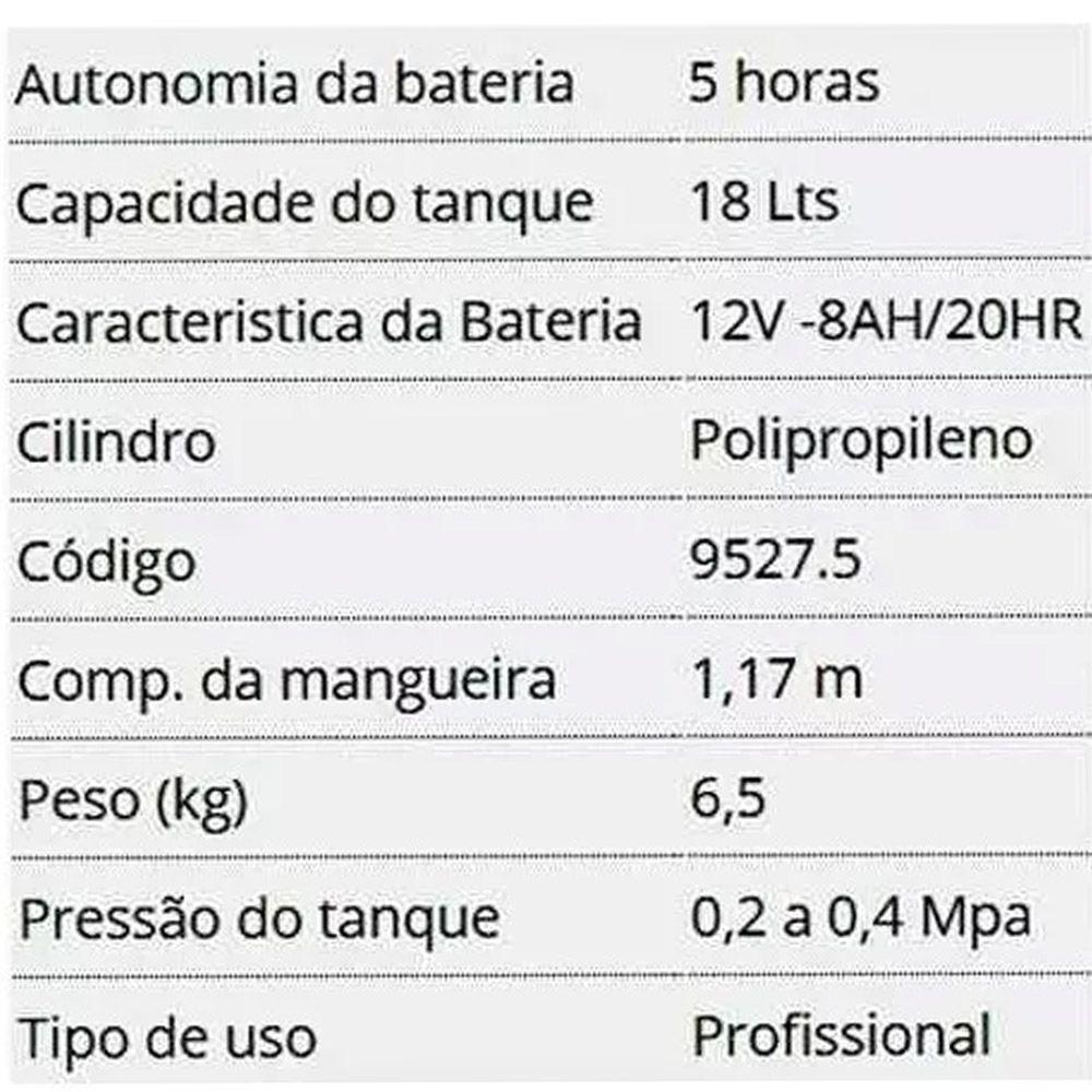 Pulverizador 18l Costal 2 Em 1 Elétrico Manual Lynus + Bônus
