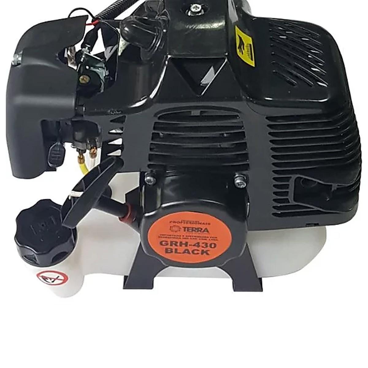 Roçadeira Á Gasolina Corta Grama 42cc Motor 2t- 1.6hp Terra