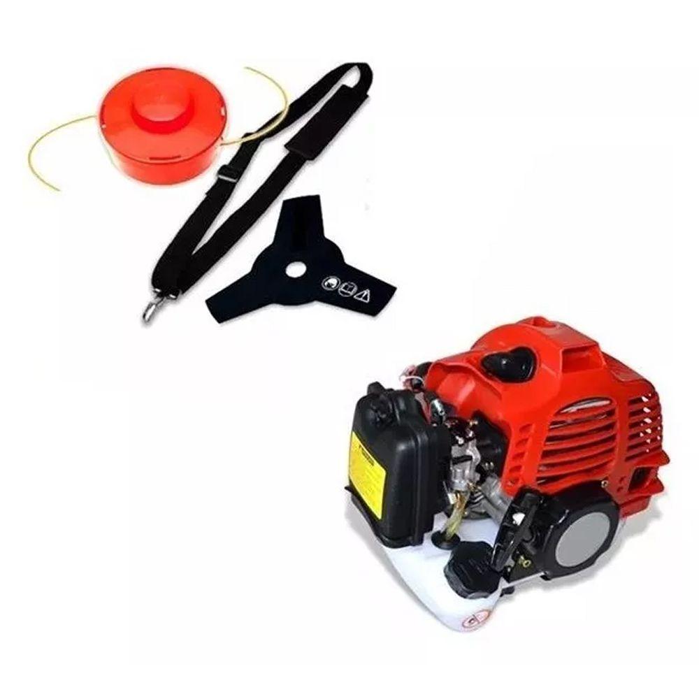 Roçadeira Á Gasolina Motor Extra Forte 2 Tempos 52cc 2.0hp