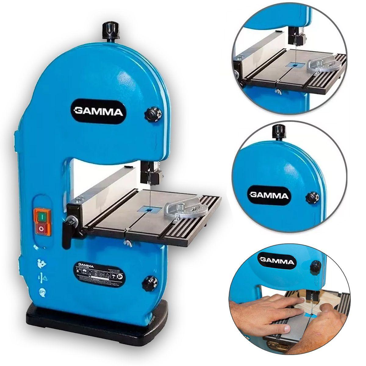 Serra Fita De Bancada Para Madeira Profissional 250w Gamma 220v