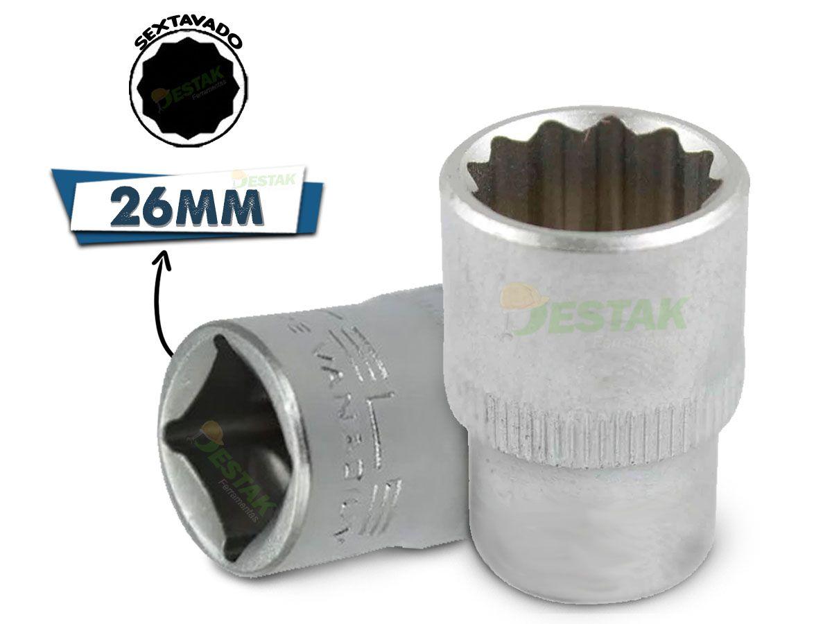 Soquete Estriado De 1/2 X 26 Mm - Stels