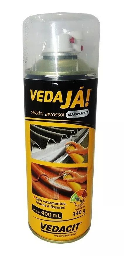 Spray Vedaja Aerossol Transparente Vedacit 400ml