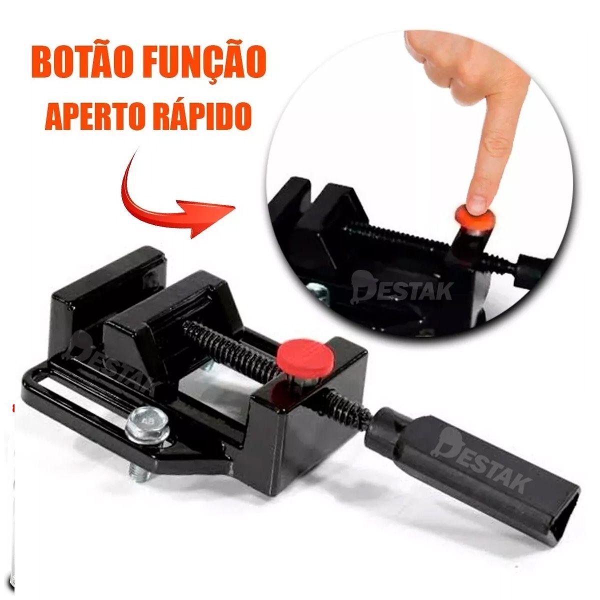 Suporte Furadeira Elétrica Bancada + 40 Brocas E Grampo C