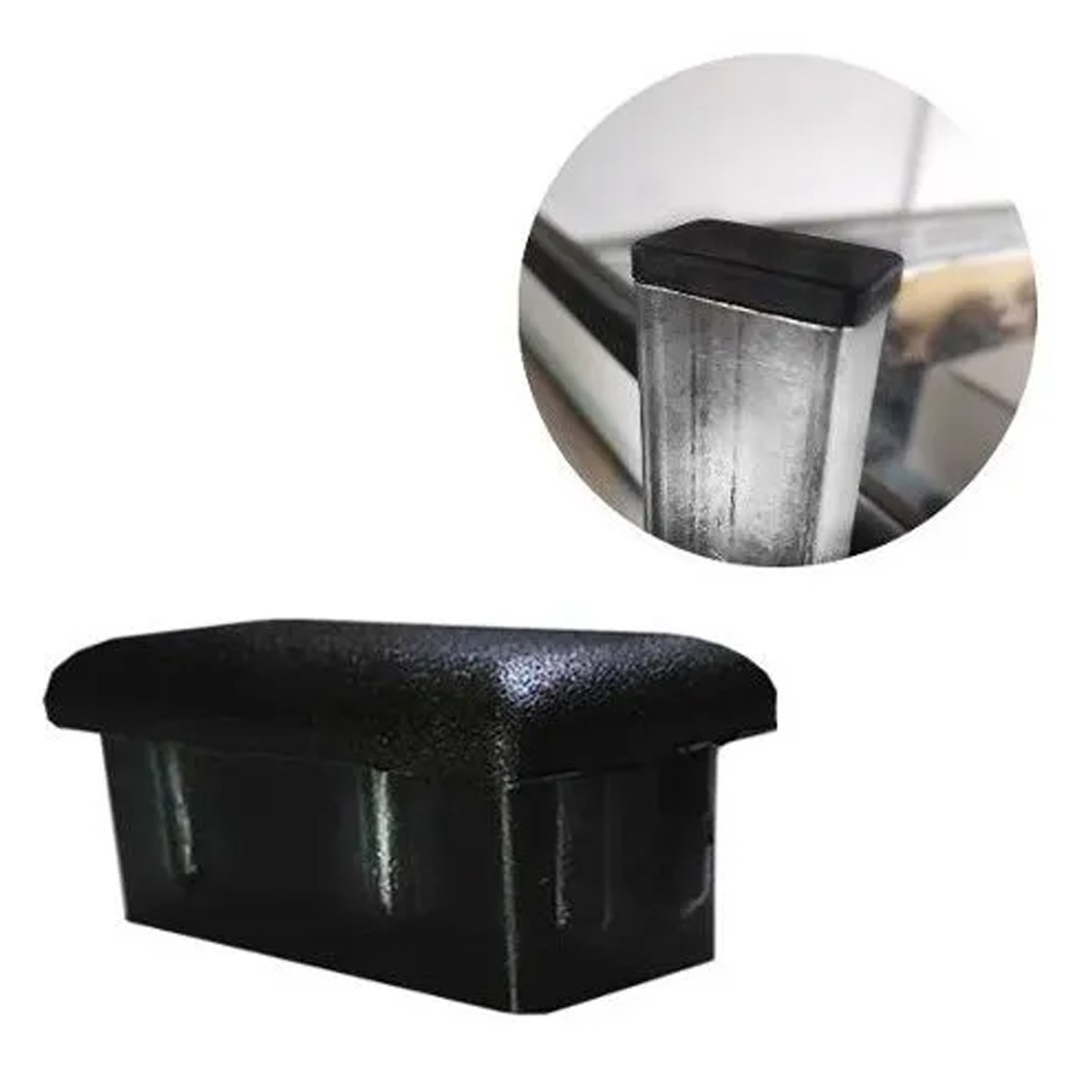 Tampa Plástica P/ Acabamentos Mesa Cadeira 20x40 10 Peças