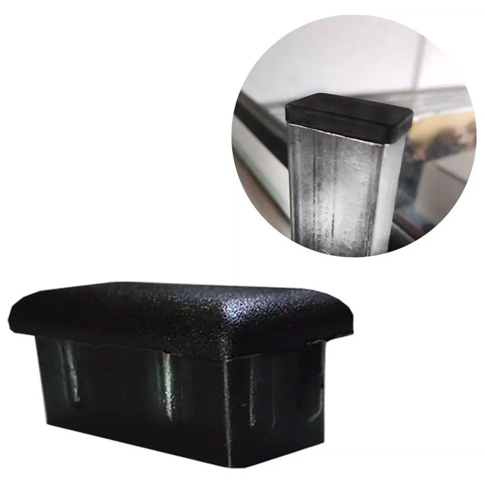 Tampa Retangular Plástica Acabamentos Metalon 50x30 50 Peças