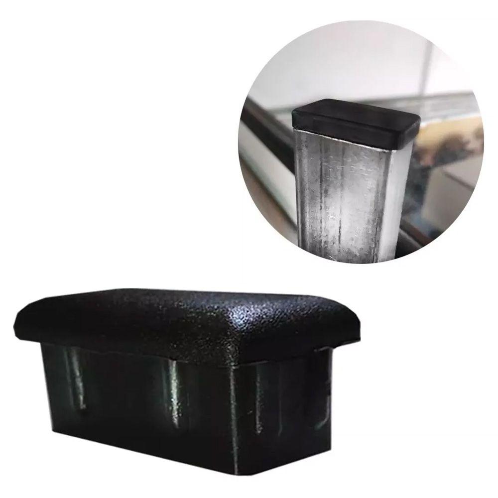 Tampão Plástica P/ Acabamento Metalon 20x40 50 Peças