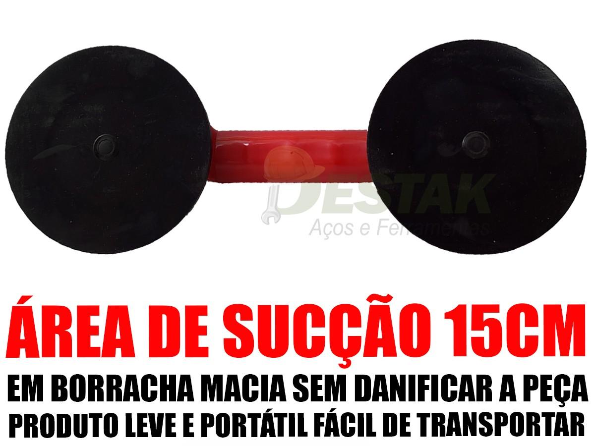 Ventosa Dupla Mtx 80kg Pisos Mármores Espelhos P/transporte