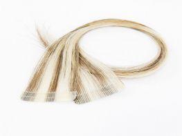 Amostra Mega Hair de Fita Adesiva Premium - 2 peças 35cm