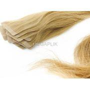 PROMOÇÃO CARNAVAL - Mega Hair Fita Adesiva Classic 20 Peças Loiro Claro #9 Cabelo Humano 65cm