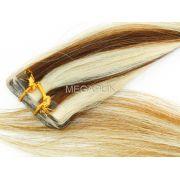 PROMOÇÃO 20% - Mega Hair Fita Adesiva Cabelo Humano Classic Mechado #6/613 - 20 peças 55cm 50g
